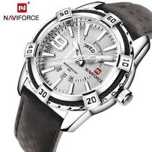 NAVIFORCE montre bracelet à Quartz pour hommes, de mode, style militaire, de sport, étanche, Date, nouvelle collection