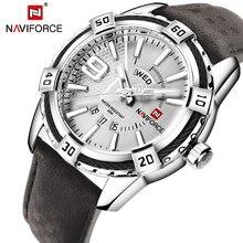 Naviforce relógios masculinos, novos relógios de pulso de quartzo e esportivos para homens, relógios à prova d água com data