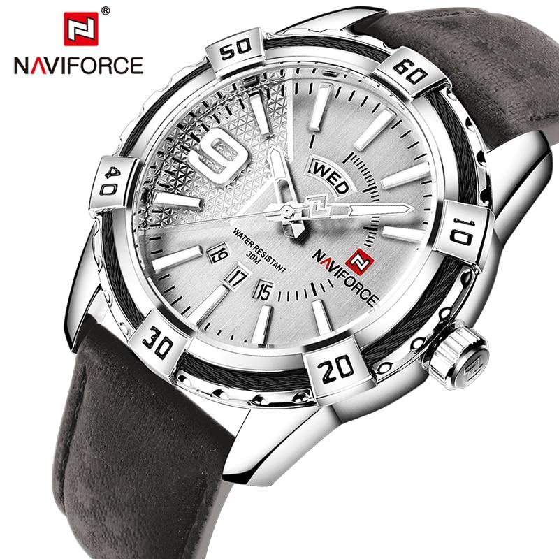 купить New NAVIFORCE Men Watches Fashion Quartz Wrist Watches Men's Military Waterproof Sports Watch Male Date Clock Relogio Masculino по цене 1257.27 рублей