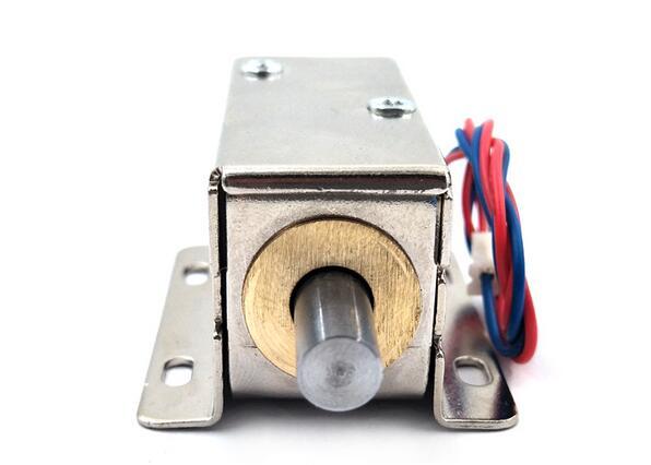 Electric Lock Small Bolt Lock ,Mini Cabinet ,round head , Cabinet lock, min:1pcs 12v cabinet case electric solenoid magnetic lock micro safe cabinet lock storage cabinets electronic lock file cabinet locks