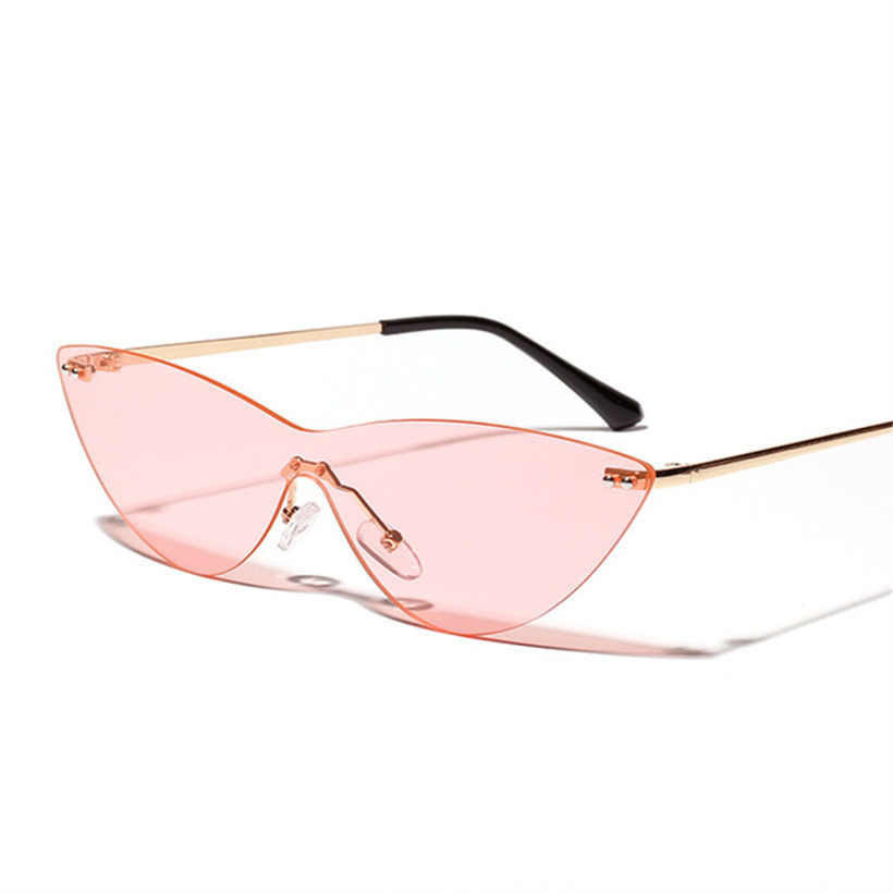 5acc341ff9e0e YOOSKE de ojo de gato gafas de sol para mujer moda de Metal sin montura  gafas