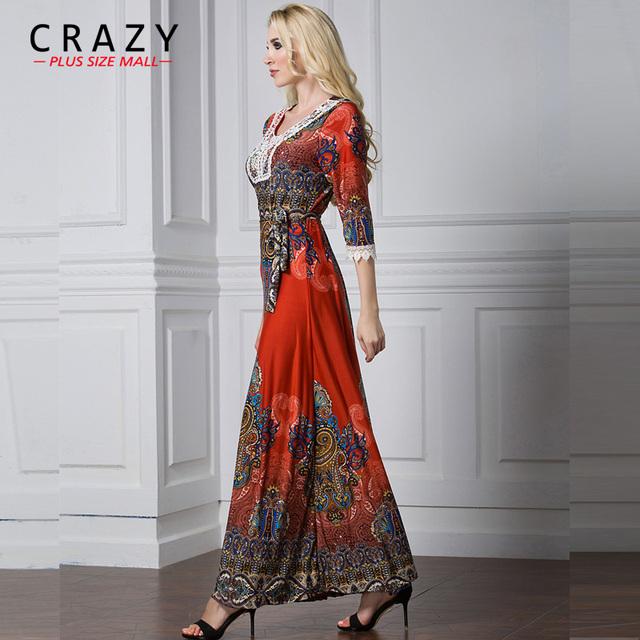 Plus Size Summer Boho Formal Dress