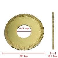 100% Wenxing 70mm 25.4mm 1.3mm Key Cutters Blade Cutting Machine Model 100E 100E1 100F Tool Parts