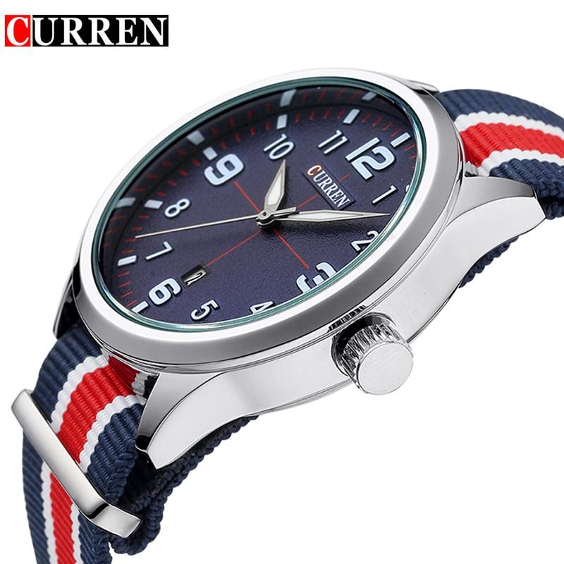 Neue Curren Uhren Herren Top Marke Luxus Herren Nylon Armband - Herrenuhren - Foto 5