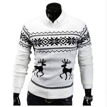 Sweaters Pullover Sueter Slim-Top Men Jumper Mens Knitwear O-Neck Christmas Winter Casual