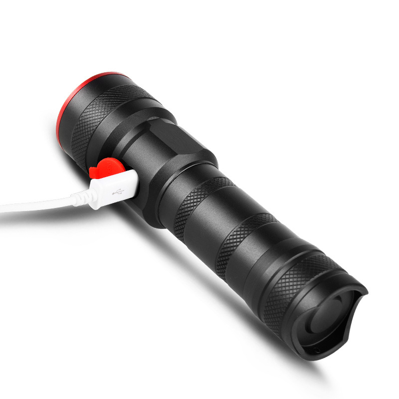 USB charging Cree XM-T6 LED Flashlight Tactical Torch use 18650 or 26650 lithium battery night riding patrol outdoor huntin