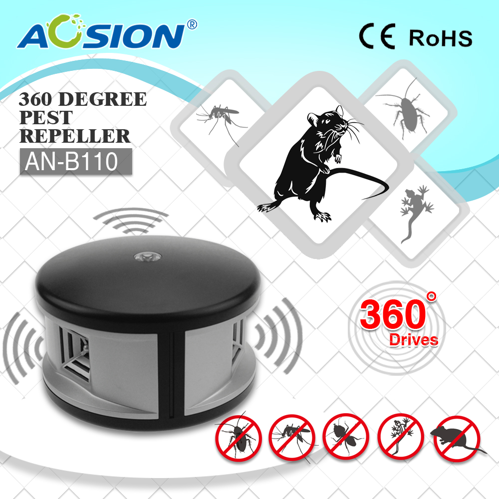 Free shipping Home Aosion 360 degree ultrasonic Rats rodent mouse mice repellent and electronic <font><b>pest</b></font> repeller control