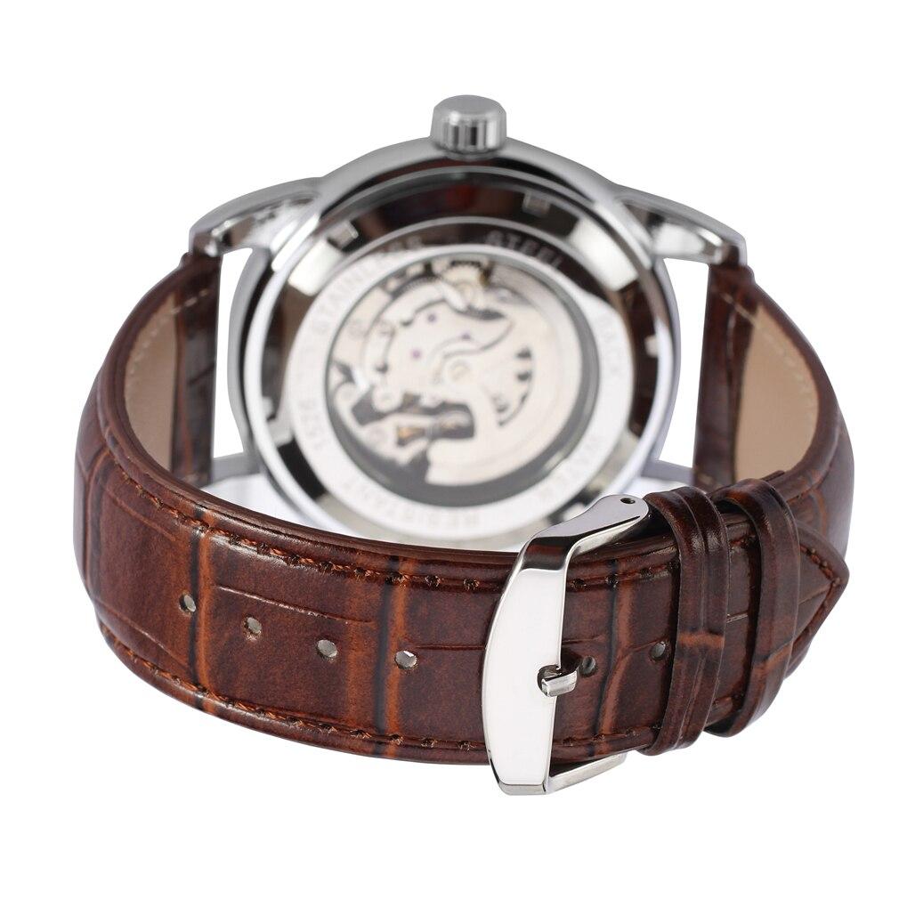Relógio vencedor totalmente prata cor superfície densa