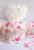 8 pulgadas de Marfil de Encargo Rosa de cristal Broche de Joyería de Perlas rosas De Seda Ramo de la boda Ramo Nupcial de la novia ramos de dama de honor