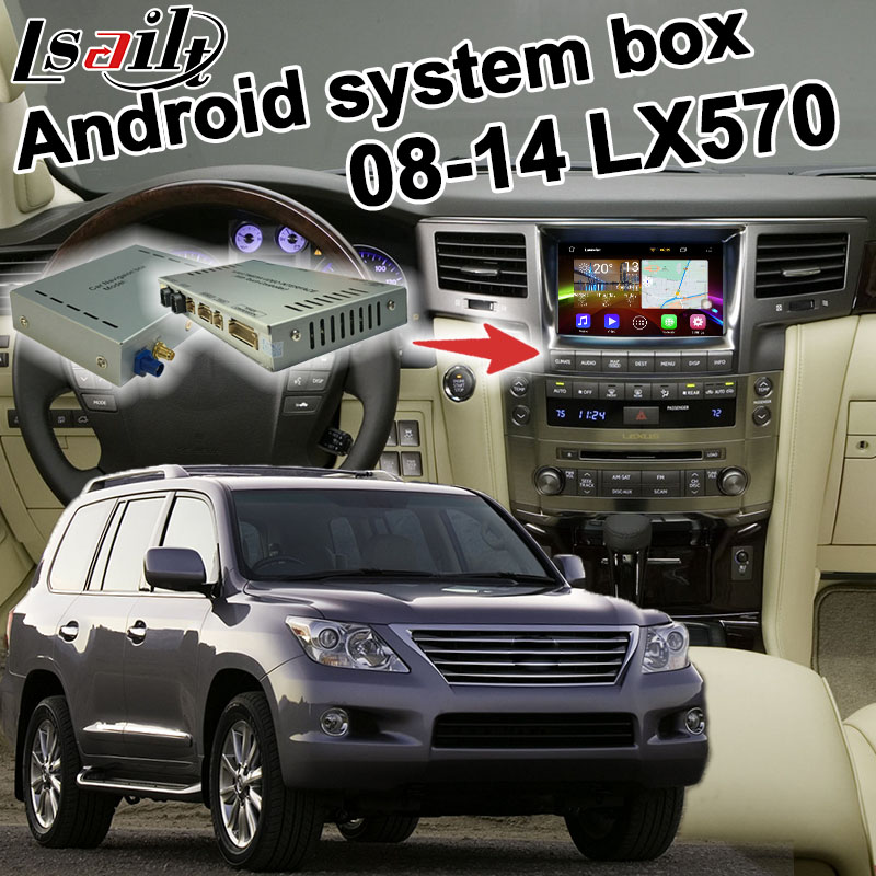 Android 6.0 GPS navigation box for 2008-2015 Lexus LX570 video interface box with GVIF m ...