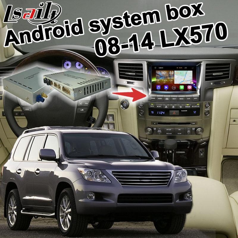 Android 6.0 GPS navigation box pour 2008-2015 Lexus LX570 vidéo interface boîte avec GVIF miroir lien youtube waze iGO yandex