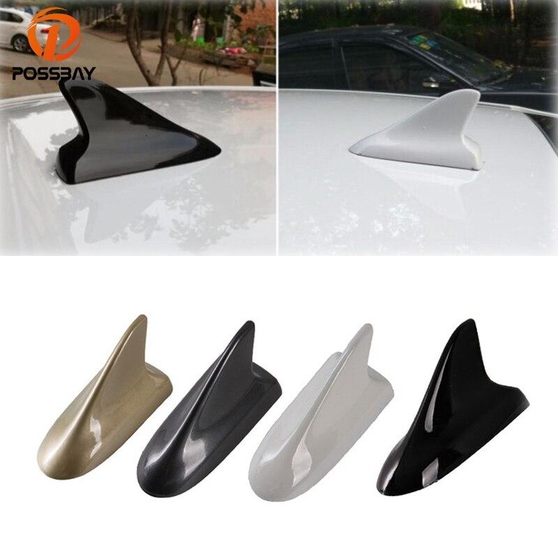 Black Car Shark Fin Decor Antenna Aerial Sticker Waterproof Fit for Benz Honda
