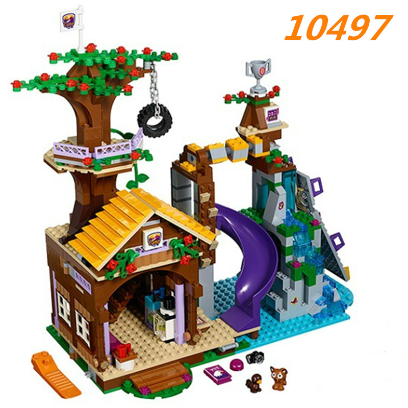 Bela <font><b>10497</b></font> Adventure Camp Tree House Building Block Set Stephanie Emma Joy Figures Girls Toy Compatible with Blocks image