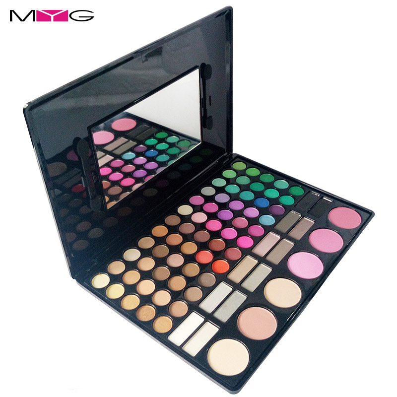 MYG 78 Color Nude Makeup Eye Shadow Palette Naked Smoky Glitter Matte Make Up Brush Tool Set Eyeshadow Maquillage Cosmetics