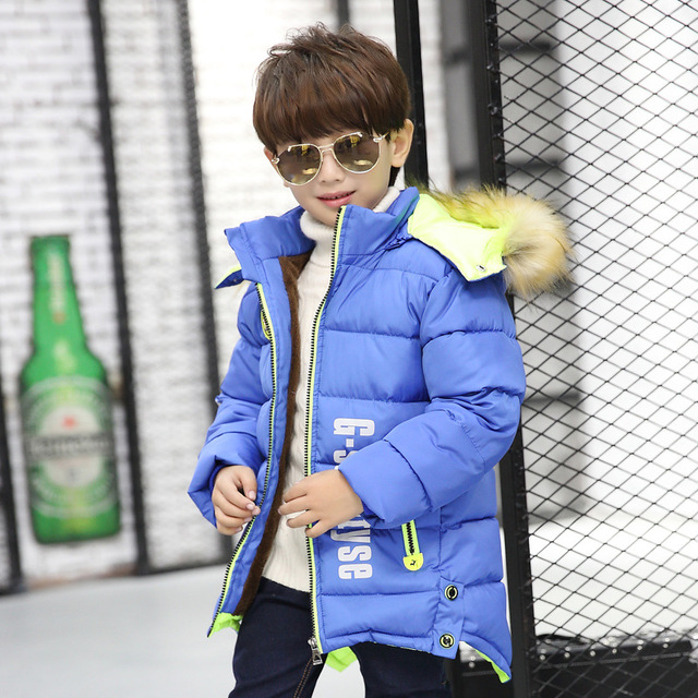 Boys Clothes Cotton Padded Jacket Warm 2017 Winter New Fashion Duck Down Jacket Kids Boy Coat for Children 3 Colors 4278