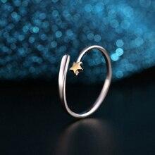 Мода Универсальный Серебро Золото Звезды Открытие Регулируемые Кольца Пара Подарки
