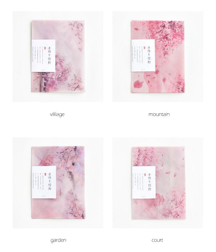 Купить с кэшбэком 3PCS/PACK Kawaii Litmus Paper Cherry Sakura Flower Envelope Transparent For Wedding Card Scrapbooking School Supplies sl1301