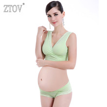 ZTOV Cotton Maternity Nursing bra+panties Breastfeeding bra set for pregnant women Lace feeding Bra Pregnancy underwear clothes