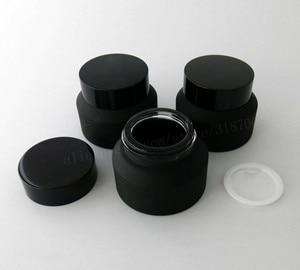 Image 4 - Pot de crème en verre noir de gel de 12x15g 30g 50g avec des couvercles Pot de crème en verre demballage cosmétique de récipient dinsertion de joint blanc