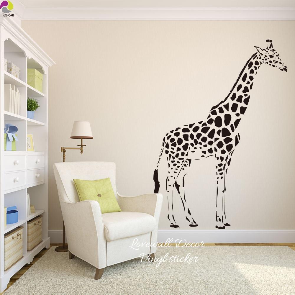 Cartoon giraffe Wall Sticker Baby Nursery Kids Room Cute Large ...