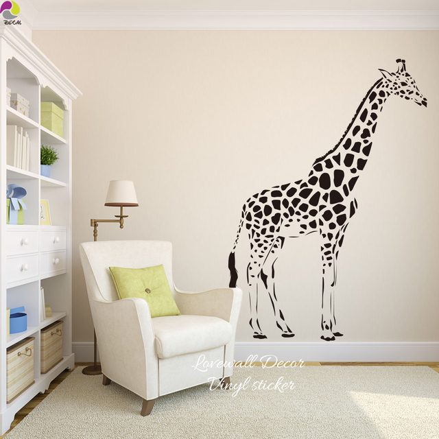 Cartoon Giraffe Wandaufkleber Baby Kindergarten Kinderzimmer Nette