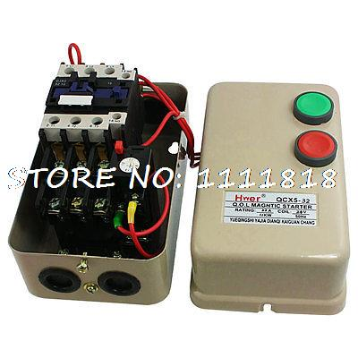 AC 24V Coil Contactor 11 KW 15 HP 3 Phase Motor Control Magnetic Starter 14-22A chint electromagnetism starter magnetic force starter qc36 10t motor starter phase protect magnetic force switch