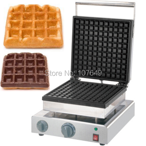 110v 220V Commercial Use Non-stick Electric 27cm Classic Square Waffle Maker Iron Machine Baker free shipping commercial use non stick 110v 220v electric 8pcs square belgian belgium waffle maker iron machine baker