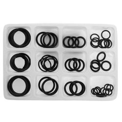 50Pcs Rubber O-Ring Gaskets Assorted Sizes Set Kit For Plumbing Tap Seal Sink Thread