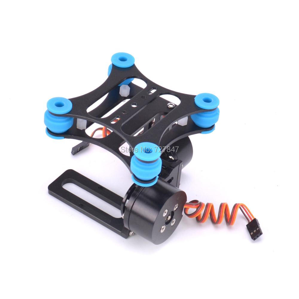 Shock-absorbing CNC Metal Brushless Camera Gimbal Frame (balck) For Phantom Gopro 2 3 Xiaomi Xiaoyi Camera