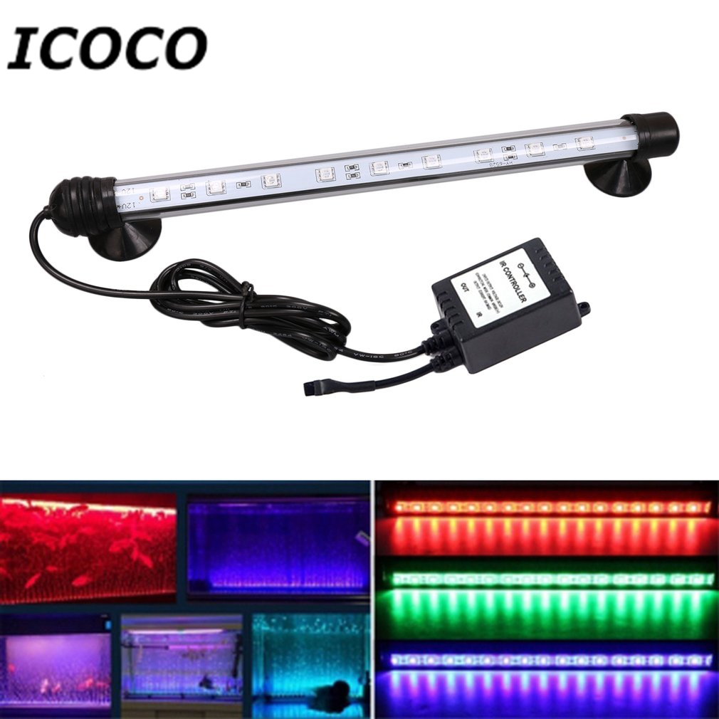 Humorous 18cm Waterproof Aquarium Light 5050smd Rgb Led Aquarium Fish Tank Submersible Light Lamp With Remote Control Eu/uk/us Plug Lights & Lighting Led Underwater Lights