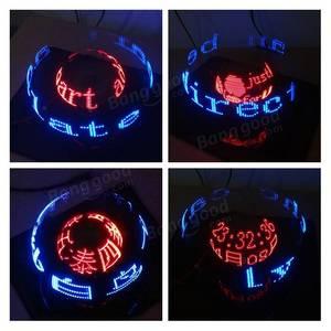 Image 5 - DIY dwuosiowy sferyczny obrotowy zestaw LED kreatywny POV lutowania zestaw treningowy