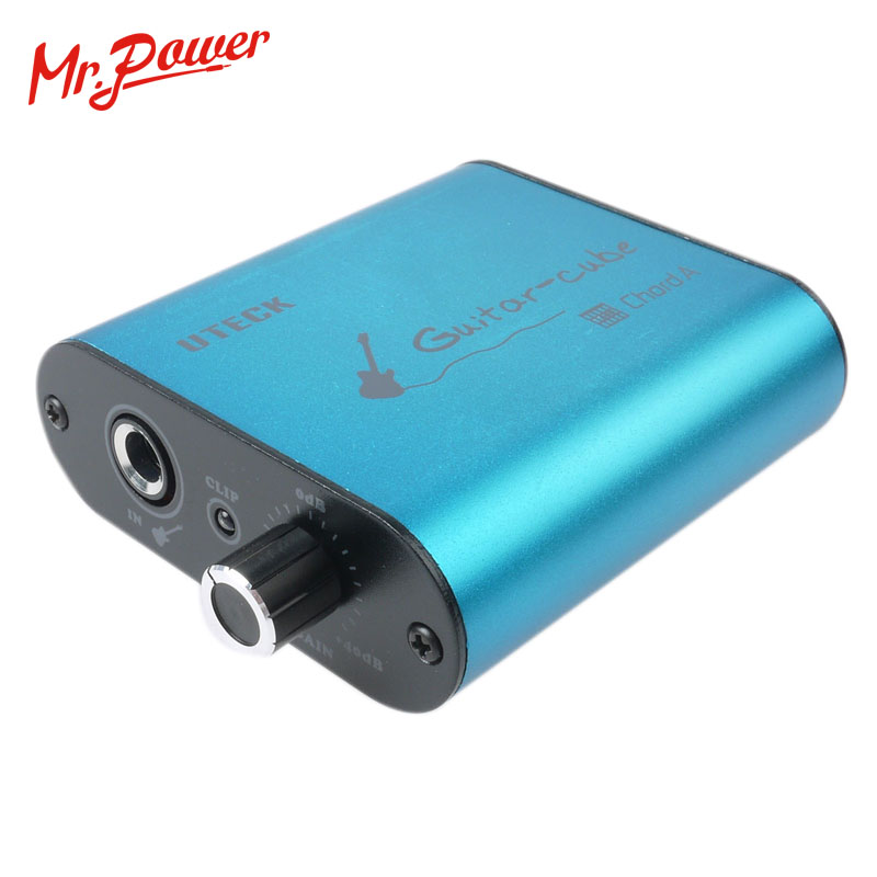 Uteck Guitare Cube ASIO Corde USB interface audio (DI) idéal pour Doux (Guitar Rig JAMVOX AmpITube) 240 B