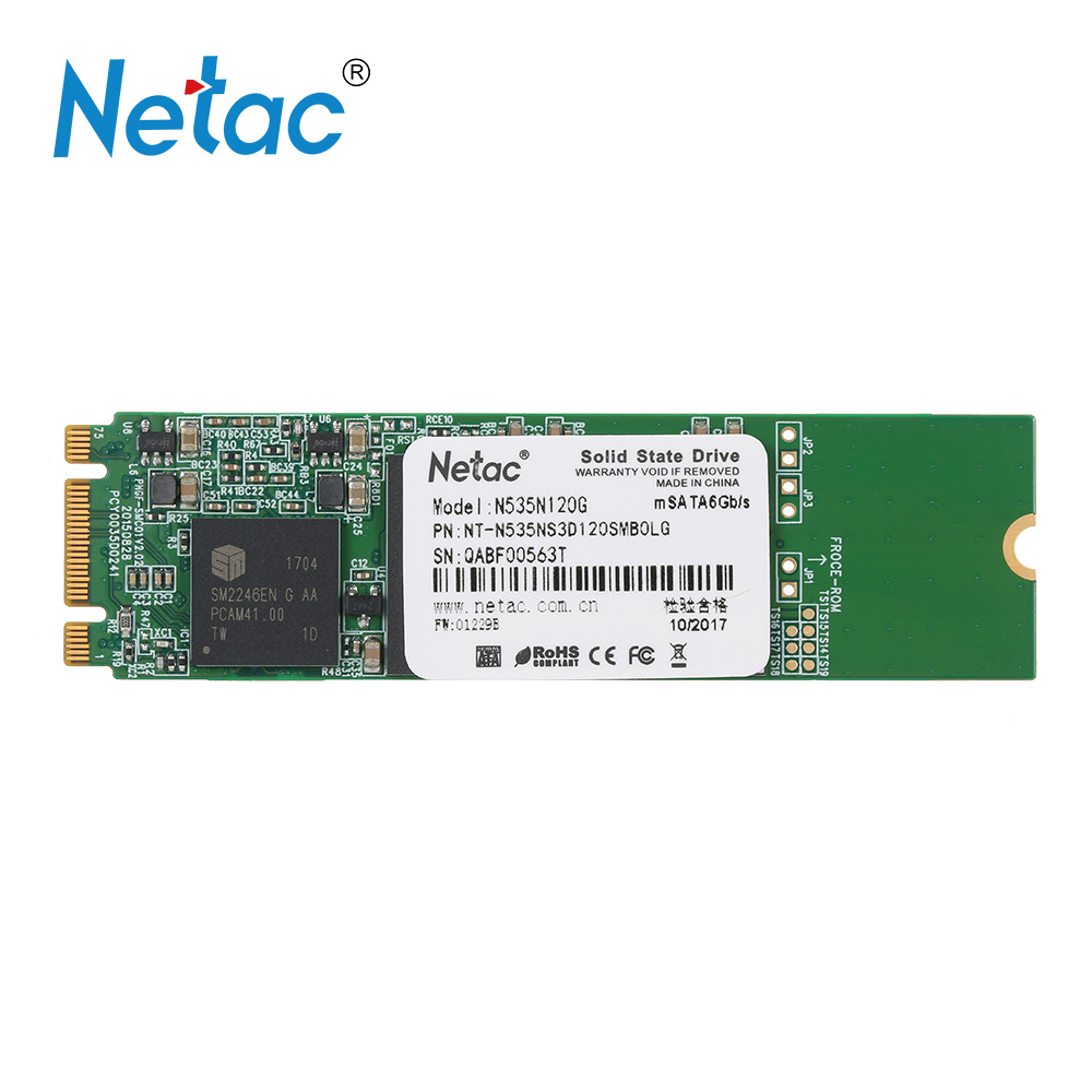 Netac N535N 120GB SSD Internal Solid State Drive SSD Disk NGFF(M.2) 2280 SATA 6Gbps High Speed Digital Flash m2 ssd for laptop ...