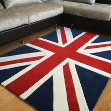 Подушка для компьютерного стула ковер для йоги коралловый бархатный коврик синий красный любовь Лондон Флаг Великобритании домашний Коврик для прихожей коврик для двери гостиной C26