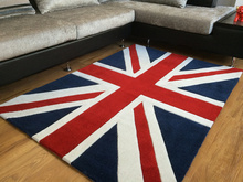 Computer Chair Cushion Carpet Yoga Coral velvet Mat Blue Red Love London UK Flag Home Hallway Carpet Living Room Door Rugs C26