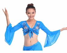 2018 New sexy women tribal belly dance tops long sleeve belly dancing costume on sale
