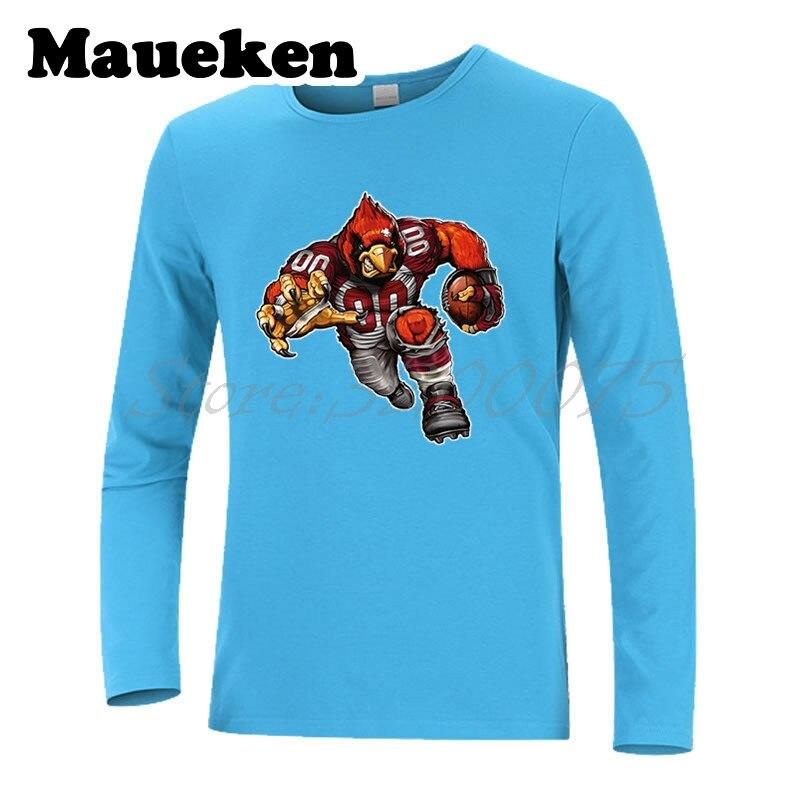 Men Long Sleeve Strong Arizona Cardiac Cardinal Autumn Winter T-Shirt T Shirt for Cardinals fans Comic Cartoon Mens W18010130