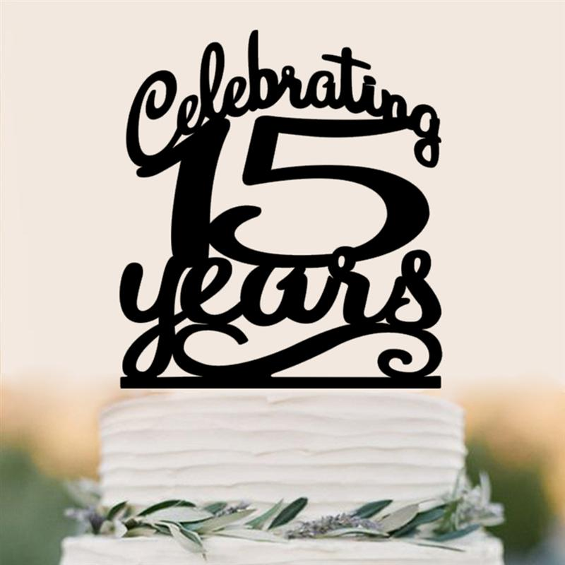 Peachy Classy 15Th Birthday Cake Topper Celebrating 15 Years 15Th Funny Birthday Cards Online Inifofree Goldxyz