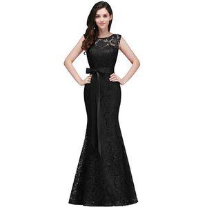 Image 5 - Vestido de festa longo Mermaid Burgundy Dusty Pink Lace Bridesmaid Dresses Formal Prom Dress Party Gowns With Sash