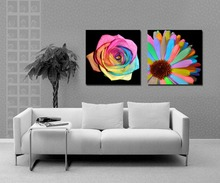 High quality modern rainbow sunflower canvas oil painting by numbers wall art hanging picture home decor