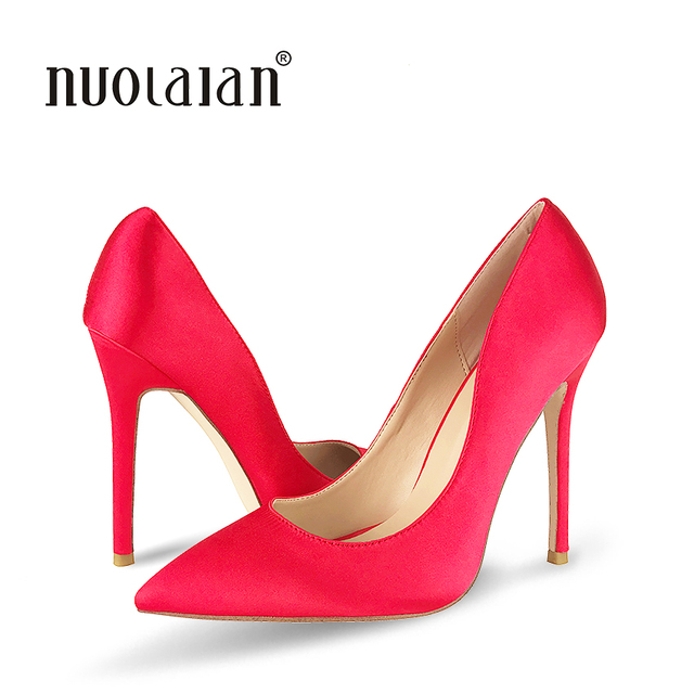 b0a96b8a62e6 Fashion Pointed Toe Classical Design Women Pumps 12CM Sexy High Heels Female  Red Black Dress Party Shoes