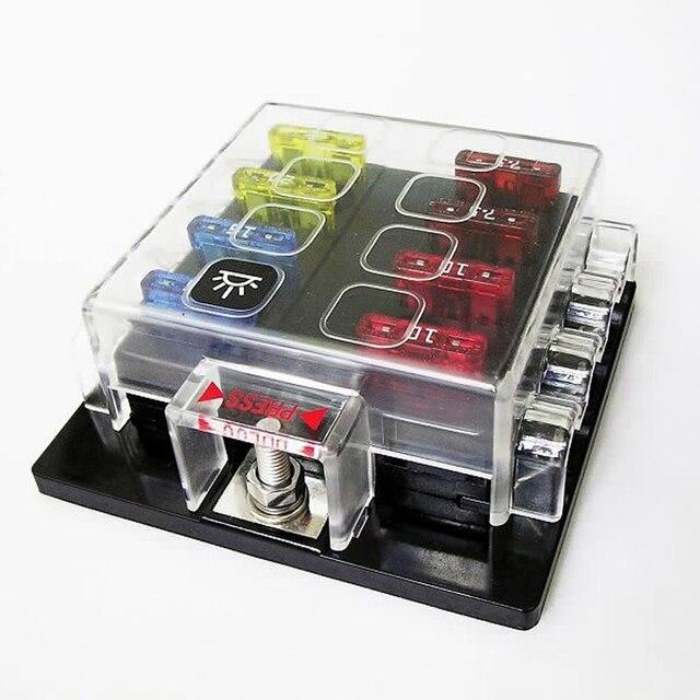 8 way circuit car fuse box 12v 24v 32v 10a 15a 20a truck auto rh aliexpress com