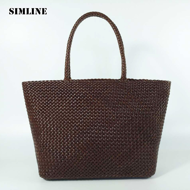 Luxury Brand Vintage Casual 100% Genuine Cow Leather Cowhide Women Female Large Tote Handbag Handbags Totes Bag Bags For Ladies luxury genuine leather bag fashion brand designer women handbag cowhide leather shoulder composite bag casual totes