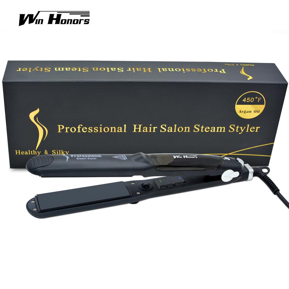 функция пара утюг пара профессиональный турмалин керамика выпрямитель для волос с маслом арганы настой выпрямители для волос