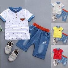 CYSINCOS/комплект одежды с надписью для мальчиков; повседневная детская футболка с короткими рукавами; брючный костюм; детский хлопковый топ; брюки; Спортивный костюм; От 1 до 5 лет