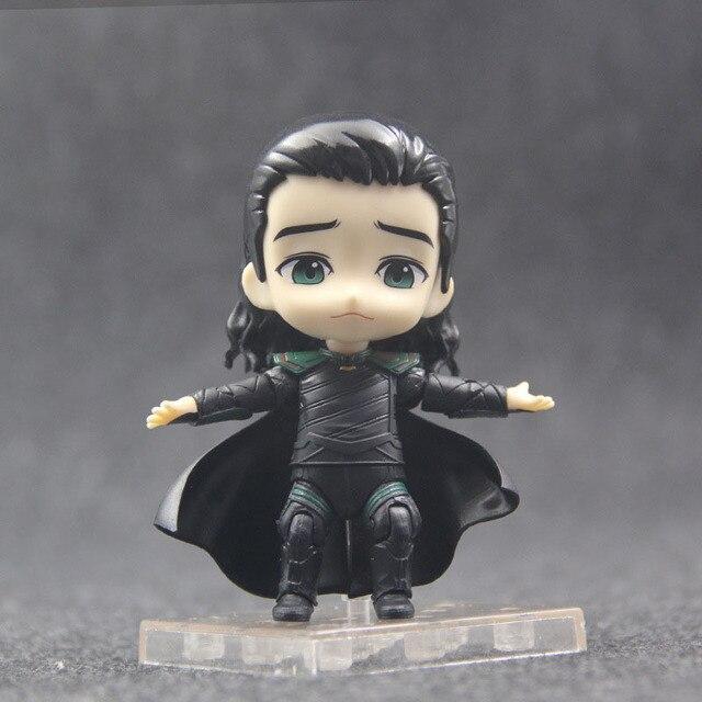 Anime Marvel Avengers Loki in Movie Thor Nendoroid 866 Cute Kawaii Super Hero 10cm Action Figure Toys 5