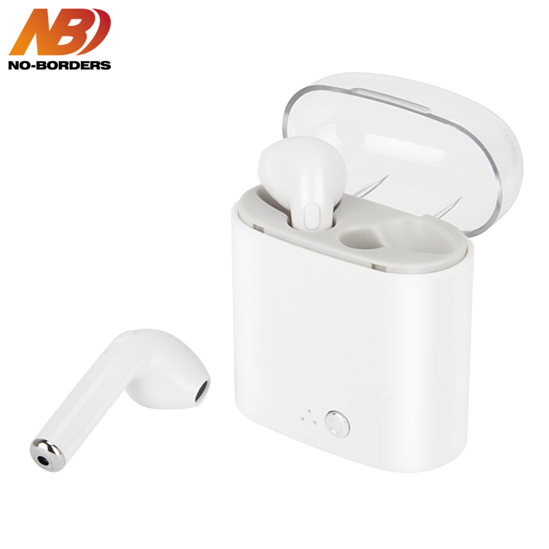 NO-BORDERS I7S Plus TWS In-ear HIFI Wireless Bluetooth Earphones Earbuds Colorful Transparent Stereo Earpieces With Charging Box borders