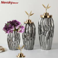 Stained glass vase decoration home decor tabletop vase flower vases for wedding decorations event products party decorations