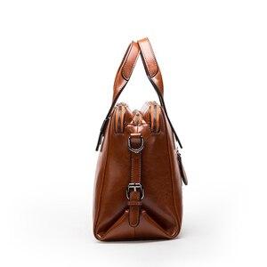 Image 4 - Bolsa feminina de couro de vaca real, bolsa de mão genuína de alta qualidade, design de marca de luxo