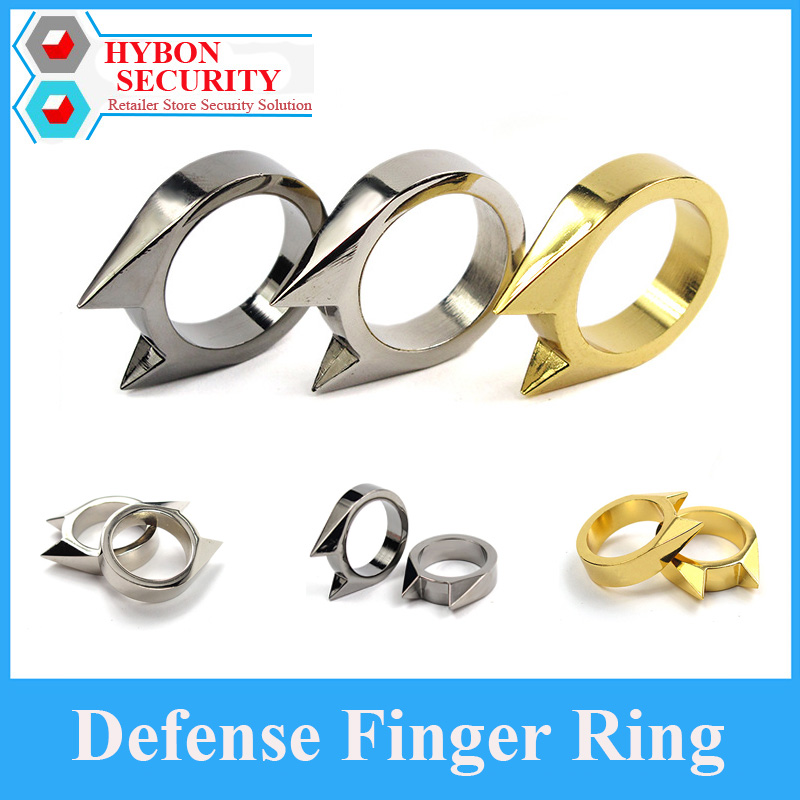 2Pcs/Lot Stainless Steel Self-Defense Protect Window Breaker Stainless Steel Ring Finger Defensive Ring Anti-wolf metal keyboard ylgf ps 2 super mini embedded industrial key waterproof ip65 dust anti violence stainless steel ring